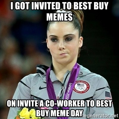 Not Impressed McKayla - I got invited to best buy memes on invite a co-worker to best buy meme day