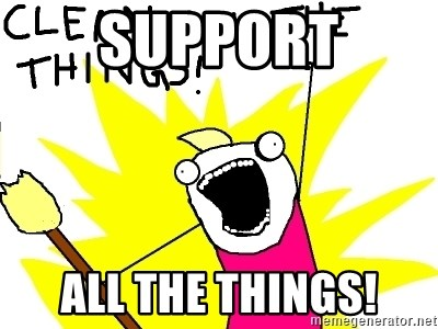 clean all the things - SUPPORT ALL THE THINGS!