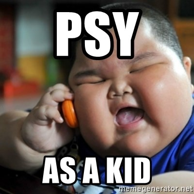 fat chinese kid - PSY  AS A KID