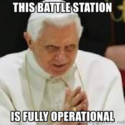 Pedo Pope - This battle station Is fully operational