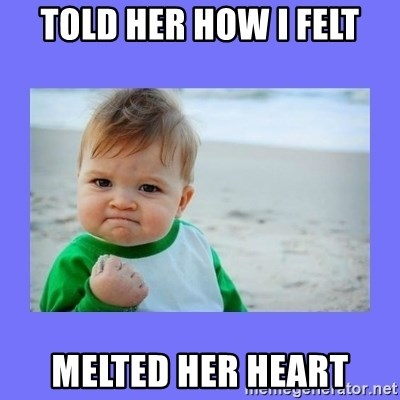 Baby fist - TOLD HER HOW I FELT MELTED HER HEART