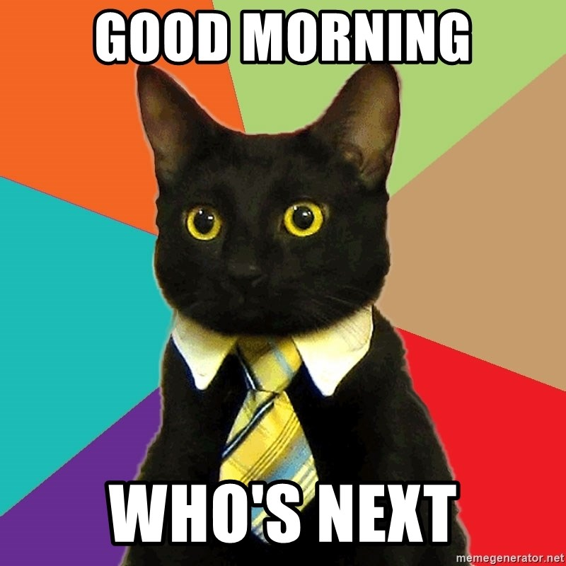 Business Cat - GOOD MORNING WHO'S NEXT
