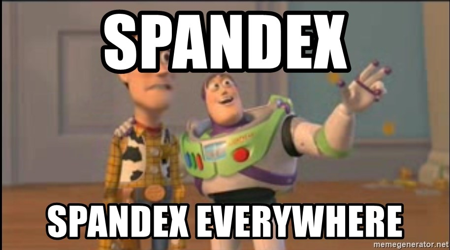 X, X Everywhere  - spandex spandex everywhere
