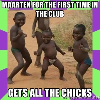 african kids dancing - maarten for the first time in the club  gets all the chicks