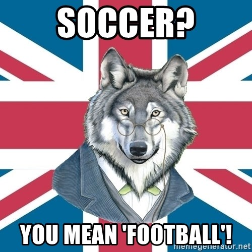 Sir Courage Wolf Esquire - Soccer? you mean 'football'!