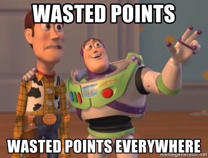 Tseverywhere - wasted points wasted points everywhere