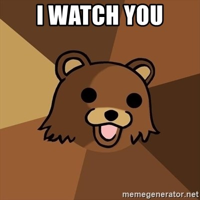 Pedobear - I WATCH YOU