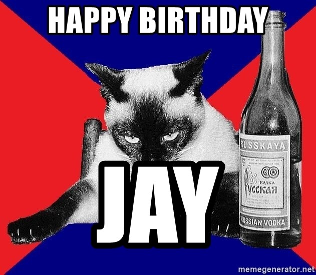 Alco-cat - Happy Birthday Jay