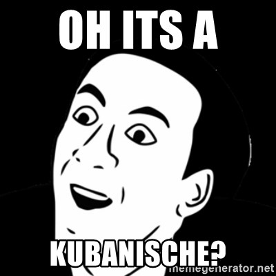 you don't say meme - OH ITS A  KUBANISCHE?