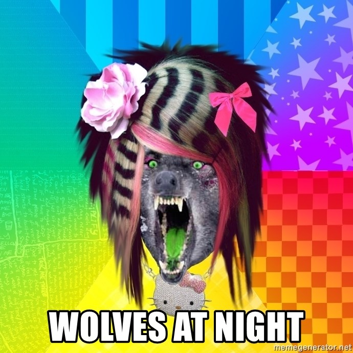 Insanity Scene Wolf -  wolves at night