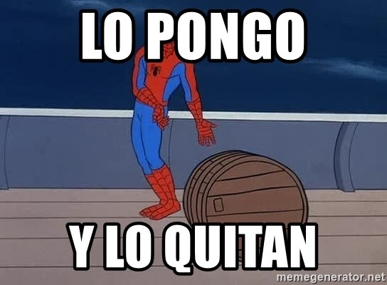 Spiderman and barrel - LO PONGO  Y LO QUITAN