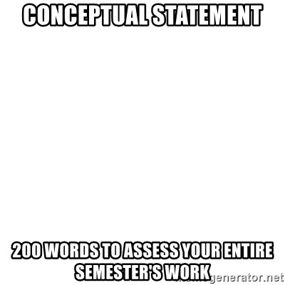 Blank Template - Conceptual Statement 200 words to assess your entire semester's work