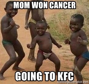 african children dancing - mom won cancer going to kfc