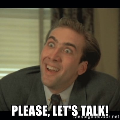 Nick Cage -  Please, LEt's Talk!
