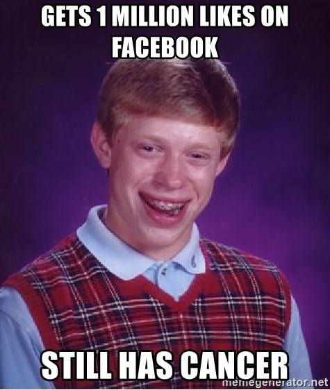 Bad Luck Brian - Gets 1 million Likes On Facebook Still has Cancer