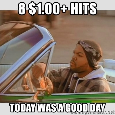 Ice Cube Good Day - 8 $1.00+ Hits TODAY WAS A GOOD DAY