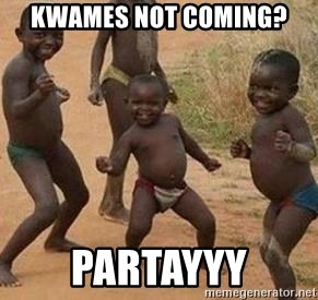 african children dancing - kwames not coming? partayyy