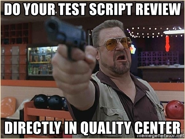 WalterGun - Do your TEST SCRIPT REVIEW DIRECTLY IN QUALITY CENTER