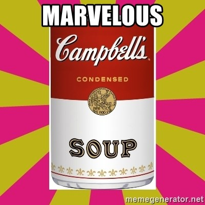 College Campbells Soup Can - MarVELOUS