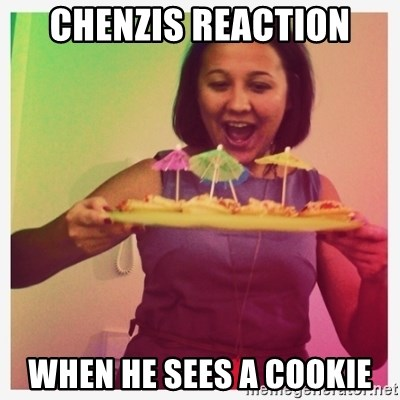 Typical_Ksyusha - CHENZIS REACTION WHEN HE SEES A COOKIE