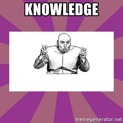 'dr. evil' air quote - Knowledge