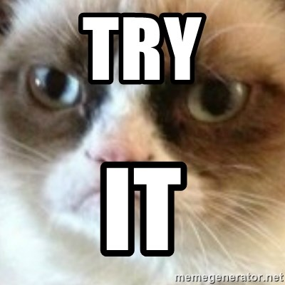 angry cat asshole - try it
