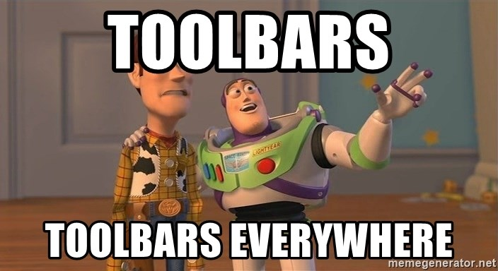 ORIGINAL TOY STORY - Toolbars toolbars everywhere