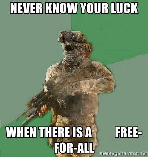 philosoraptor call of duty - Never Know your luck  When there is a          Free-for-all