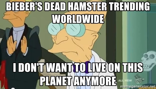dr farnsworth - BIEBER'S DEAD HAMSTER Trending Worldwide I don't Want to Live On This PLANET Anymore