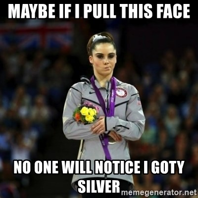 Unimpressed McKayla Maroney - Maybe if i pull this face no one will notice i goty silver