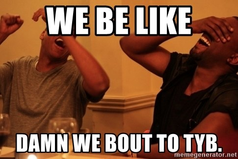 kanye west jay z laughing - We be like DAmn We bout to tyb.