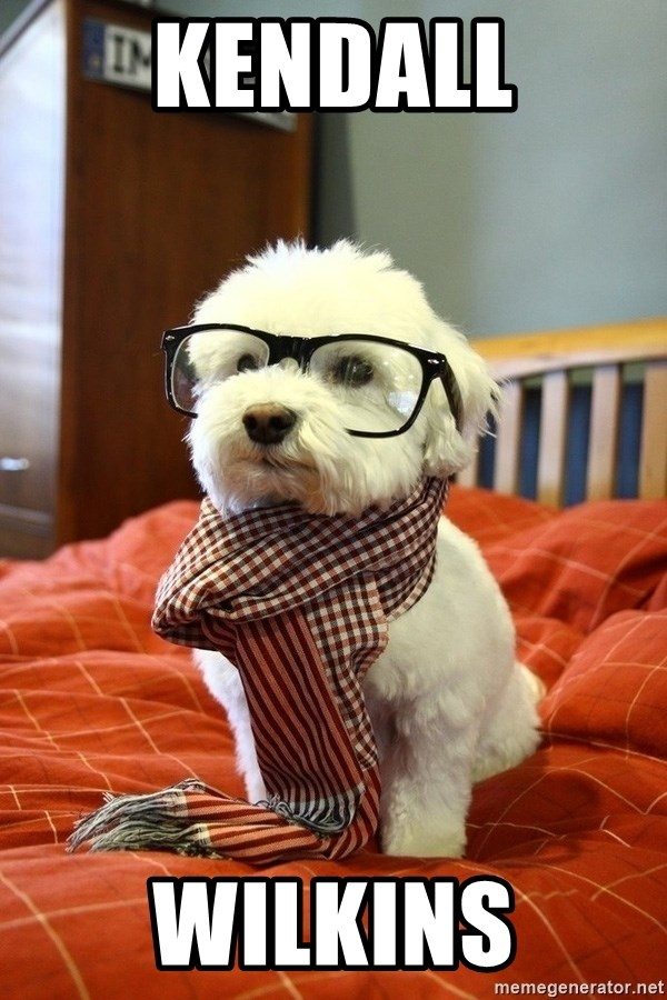 hipster dog - KENDALL WILKINS