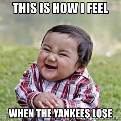 evil toddler kid2 - This is how i feel when the yankees lose
