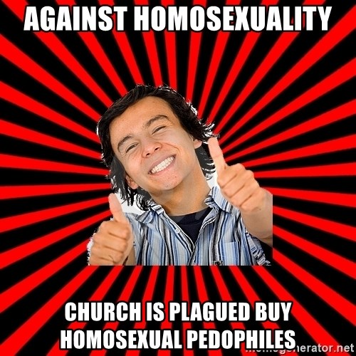 Bad Luck Chuck - AGAINST HOMOSEXUALITY CHURCH IS PLAGUED BUY HOMOSEXUAL PEDOPHILES