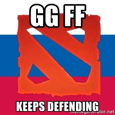 Dota2 Russian - gg ff keeps defending