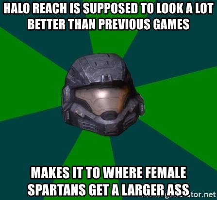Halo Reach - Halo Reach is supposed to look a lot better than previous games Makes it to where female Spartans get a larger ass