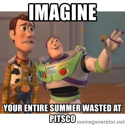 Toy story - Imagine Your Entire summer wasted at pitSco