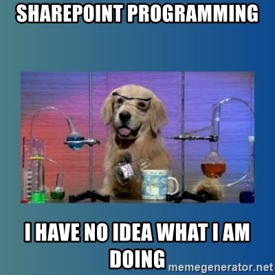 Chemistry Dog - Sharepoint programming I have no idea what i am doing