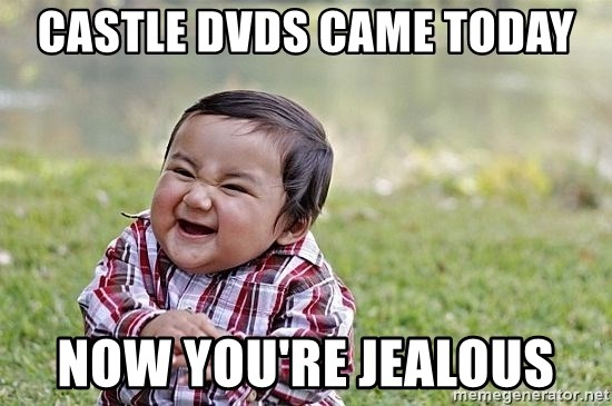 Evil Asian Baby - Castle DVDs came today Now You're jealous