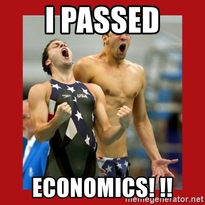 Ecstatic Michael Phelps - I passed economics! !!