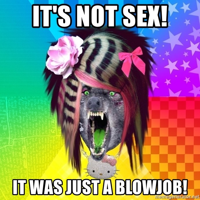 Insanity Scene Wolf - It's not sex! it was just a blowjob!