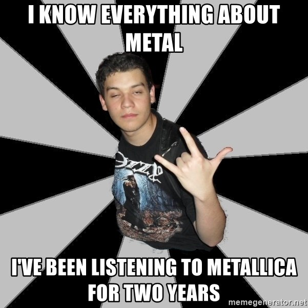 Metal Boy From Hell - i know everything about metal i've been listening to metallica for two years