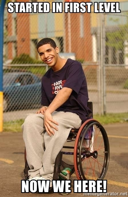 Drake Wheelchair - Started in first level now we here!