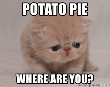 Super Sad Cat - potato pie where are you?