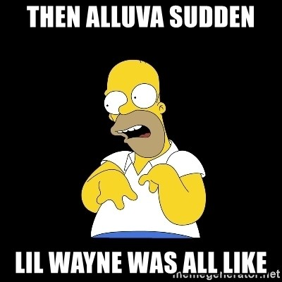 look-marge - then alluva sudden  lil wayne was all like