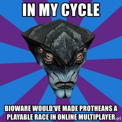 Javik the Prothean - In my cycle Bioware would've made protheans a playable race in online multiplayer