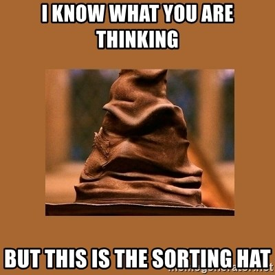 Music Sorting Hat - I KNOW WHAT YOU ARE THINKING BUT THIS IS THE SORTING HAT