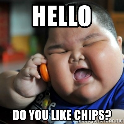 fat chinese kid - hello do you like chips?