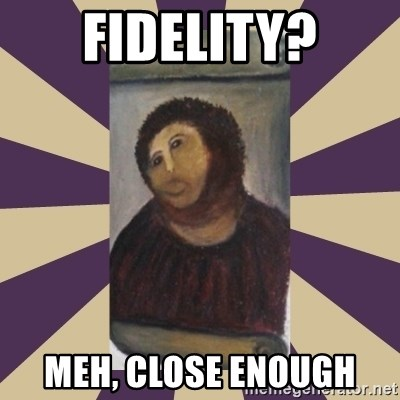Retouched Ecce Homo - fidelity? meh, close enough