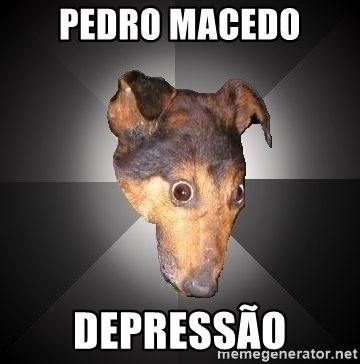 Depression Dog - Pedro macedo depressão